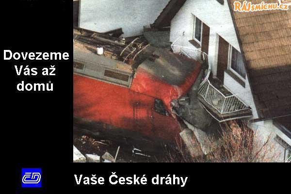České Dráhy Vás dovezou až domů