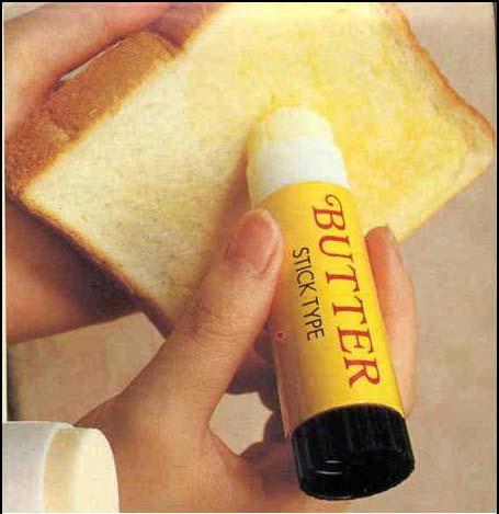 Nový způsob natírání másla.